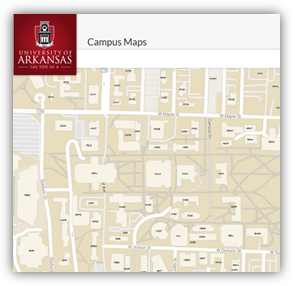 Campus Maps Uark Travel & Parking Directions | Career Services | Walton College