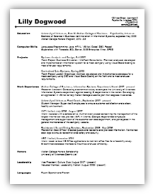 resumes for undergraduates