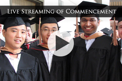 View Live Streaming of Commencement