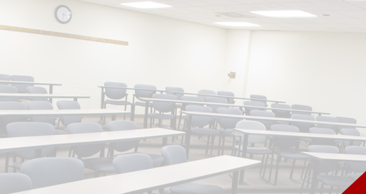An empty classroom at Walton College