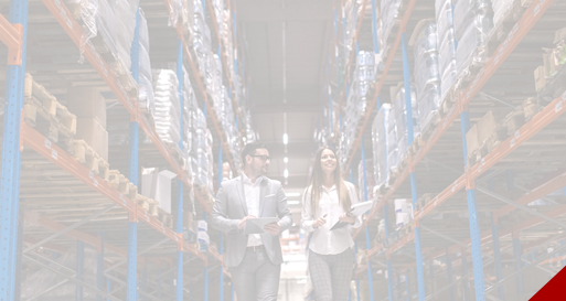 Supply chain mangers in a warehouse