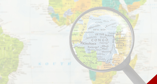 Congo on a map